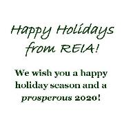Happy Holidays from REIA! We wish you a Happy Holiday Season and a PROSPEROUS 2020!