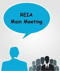 REIA Main Meeting on MONDAY, January 11th